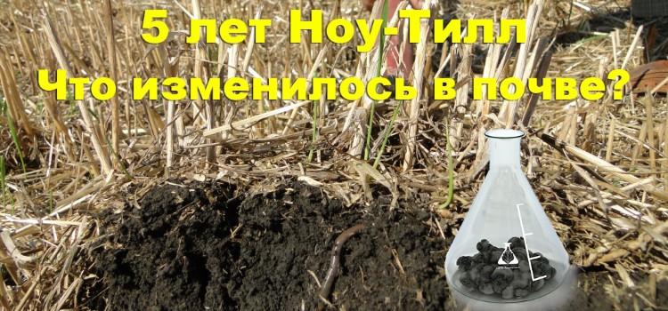 Изменения в почве после 5 лет ноу-тилл. О чем свидетельствуют цифры?